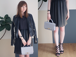 Rebekah D - Marks & Spencer Dress, Bag And Shoes, Tk Maxx Jacket - The Pleated Dress.
