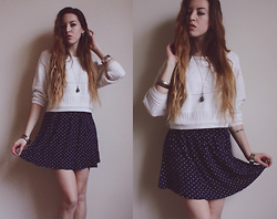 Lauren Schoonover - Vintage Cropped Sweater, The Gypsy Way Polka Dot Skirt - Outfit 240