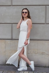 Patrycja Wojdyna - H&M Boho Dress - White boho