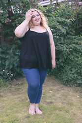 Kitty Wood - New Look Black Lace Cami, Polly Grace Jeggings - Summer