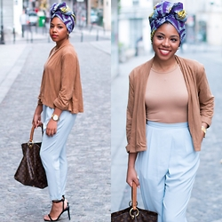 M Shelly - H&M Suede Jacket - Head wrap for everyday