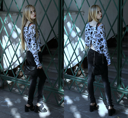 Eliza Modex - H&M Blouse, Bag, Jeans, H&M Shoes - Anorexia
