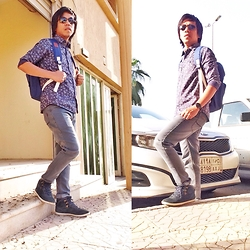 Ahmad Talon - Leecooper Laceup, Lee Cooper Jeans, Police Shades, Boss Club Watch, Adidas Backpack - Weekend grind