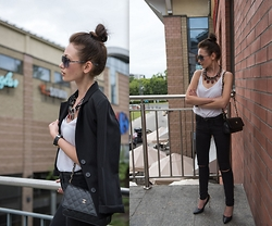 Porcelanna - Brandy Melville Usa Jeans, Stradivarius Necklace, Chanel Bag, F&F Top - Simple, Classy, Chic www.porcelanna.pl