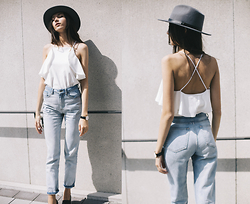 Bea G - Top, Jeans, Hat, Watch - LA SUN