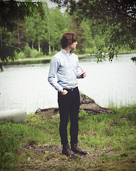Erik Thorell - Polo Ralph Lauren Shirt, Win Jeans, Vagabond Boots - Swedish Midsummer