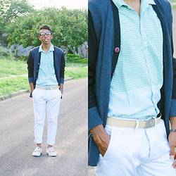 Adelso G. - Asos Sweater, Zara T Shirt, Zara Pants, Seven's Shoes, Zerouv Glasses - Color Blocking
