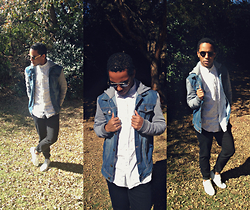 Keenan Matthews - Spitfire Lennon Clip Frames, Topman Denim Hood Jacket, Rt Pyramid White Shirt, Cheap Monday Black Jeans - Winter cant stop me