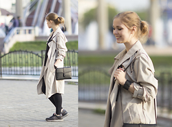Anya Rise - Zara Coat, Six Bracelet, Stradivarius Bag, Intimissimi Leggings, New Balance Boots - My favorite coat