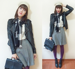 Lilian Larrañaga - Pepaloves Top, Pepaloves Bag, Renner Jacket, Arezzo Boots, Capitu Vintage Skirt - Hey, kitty!