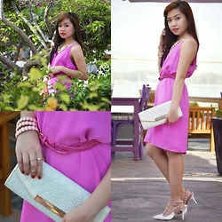 "Krissy Pronto - Cotton On Dress, New Look Clutch, Valentino Heels - Let me ""PINK"" first!"