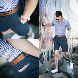 Chris Nicholas - Enzo Kay Anchor, Dha1fashion Via Sprezzabox Pocket Square, Joe Fresh Shorts, Coach Belt, Keds Champions - 135