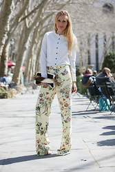 Eef Vicca - Zara Printed Wide Leg Trousers - FLOWERS