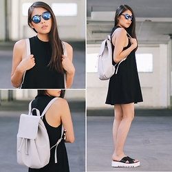 Thao Nhi Le - Zara Backpack, &Otherstories Platform Sandals - Summer Vibes