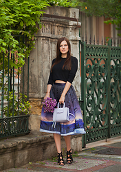 Viktoriya Sener - Chicwish Skirt, Rebecca Minkoff Bag, Asos Sandals, Bershka Top - MIDNIGHT