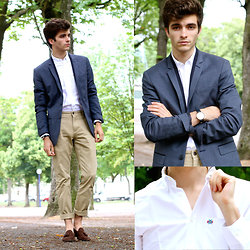 Matthias C. - Candelaz European Embroidered Shirt, Dockers Chino Pants, Skin Loafers - Candelaz