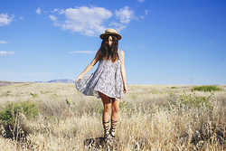 Judy L - Urban Outfitters Dress, Forever 21 Gladiator Sandals - Road Trip