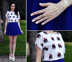 Kary Read♥ - Trendsgal T Shirt, Style Moi Tattoos - Elephants♥