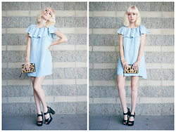Amy Roiland - Dress - Baby Blue Dream , Pink Bangs