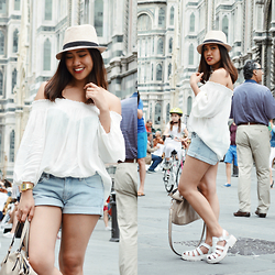 Fae Maaliw - Pull And Bear Off Shoulder, H&M Denim Shorts, Subdued Platform, Sisley Bag - A Letter To My 16-Year Old Self