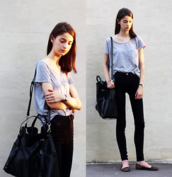 Nora Aradi - Mango Shirt, Asos Jeans, Zara Bag, Daniel Wellington Watch - Perfect fit
