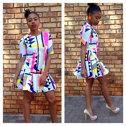 Gontse Mathabathe - Drop Waist Dress - +Chasing the sun in winter+