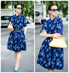 Veronica P -  - Chambray Floral Dress