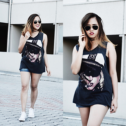 "Fae Maaliw - Jennyfer Tank Top, Converse Chuck Taylor, Ray Ban Aviator - 11 Moods Every Girl Has During The ""Girl Time Of The Month"""