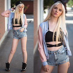Oksana Orehhova - Style Moi Jacket, Sheinside Shorts - CASUAL SUMMER DAYS