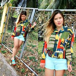 BeLL LurzZzzz - Printed Blouse, Mint Denim Shorts - Last Minute of June