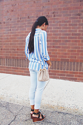 Now That's Chic - Zara Blouse - Casual in Stripes