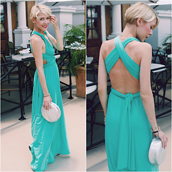 Zuzana -  - Mint maxi dress