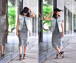 Cleo - Cotton On Midi Dress, Zooshoo Cut Out Heels - Boss Lady