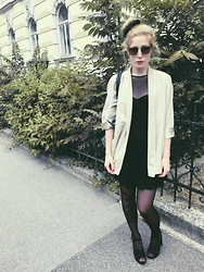La gal X - American Apparel Dress, Pull & Bear Heels, Monki Blazer, Urban Shades - Sad prayers