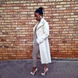 Gontse Mathabathe - Long Cream Trench Coat - +The Trench+