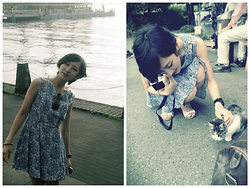 Yuko Tanaka - Dress, Glasses, Sandals - Shanghai Honey