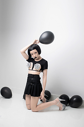 Plaaastic ! - Teale Coco Mesh Cut Out Crop Top, Dollskill Strap Skirt - Your birthday gift this year: me