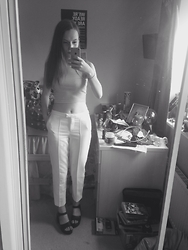 Jessica Belshaw - Topshop Trousers, Topshop Crop Topb, Topshop Chunky Sandals - June