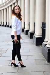 Kasia Brzozowska - Zara Shoes, Zara Blouse, Zara Trousers - Black n white