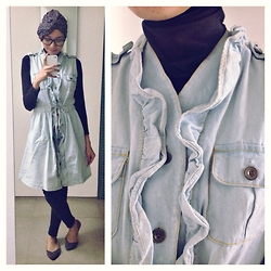 Mrs Fien -  - Ruffled Denim Dress