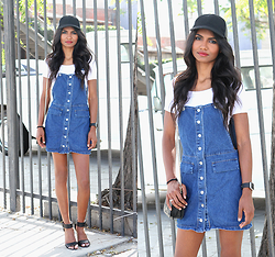 Tiffany Borland -  - Denim pinafore.