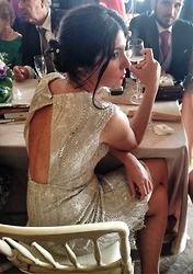 Guadalupe Monterroso - Puro Garbo Silver Dress - Wedding look