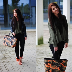 Klaudia Warasiecka - Michael Kors Bag, Sheinside Shoes - MK Camouflage