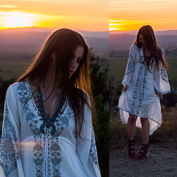 Shelly Stuckman - Chic Wish Bali Summer Embroidered Maxi Dress, Steve Madden Quail - Nature of Nevada