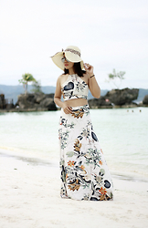 Jenniya Yah - Wholesale 7 Floral Crop Top & Maxi Skirt, Trendsgal Straw Hat - Take Me Back to The Beach, Babe!