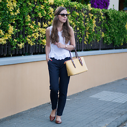 Kamila L - Topshop Top, Zara Pants, Nicoli Bag - Yellow In Town