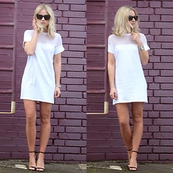 Miriam Mache - Missguided Dress, Heels - Transparent Dress