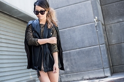 Kristel D - Jaggar The Label Cape, Zara Gold Top, Celine Sunglasses - Strange Birds