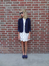Sydney L. - J. Crew Navy Blazer, Chanel Espadrilles - Anchor Yourself to This Dress