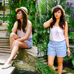 Jannelle O. - Cotton On Tank Top, Giordano Shorts, Accessorize Hat - Into the Wild